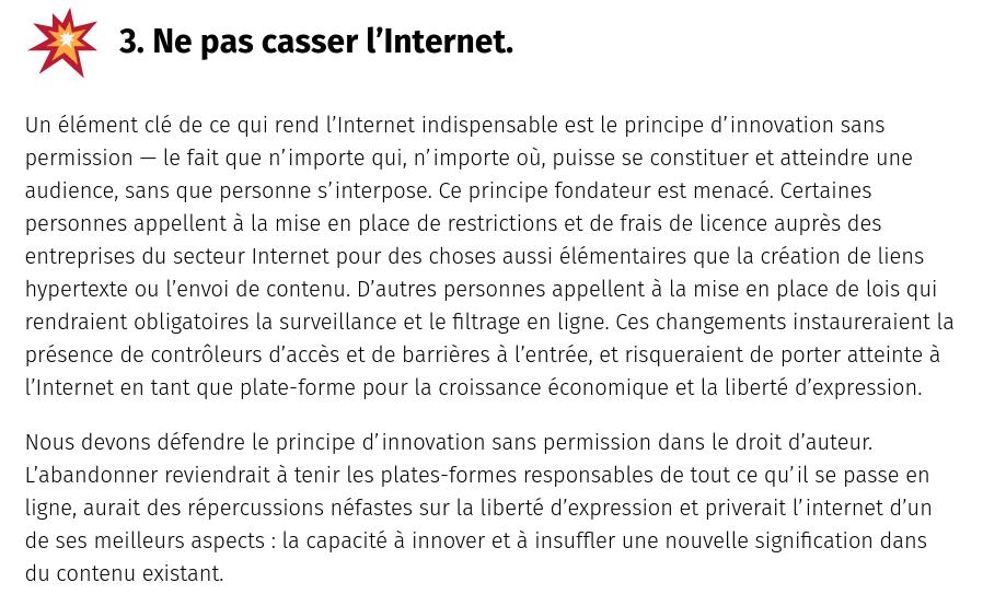 3. Ne pas casser l'Internet.
